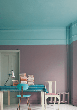 Ceiling with accent color