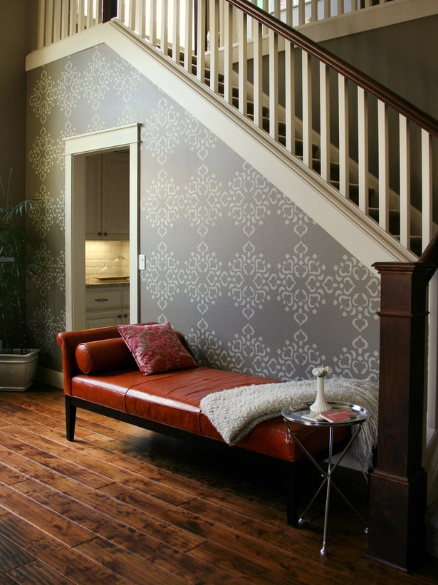 Stencilled accent Wall