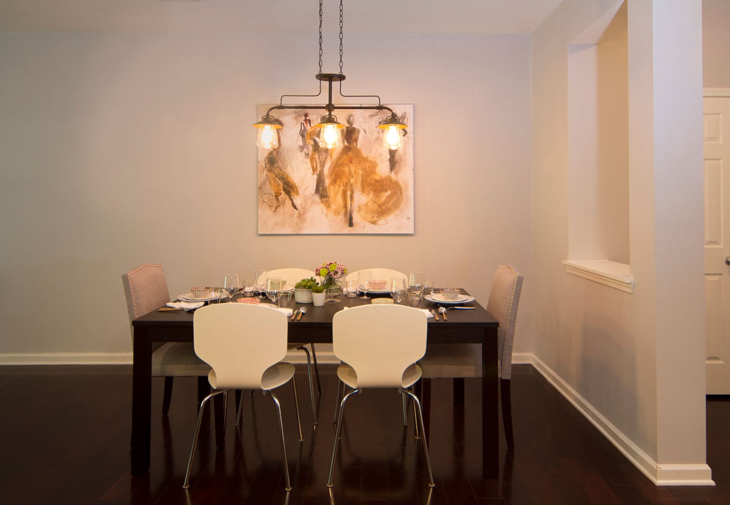 Dining room interior design in Georgia
