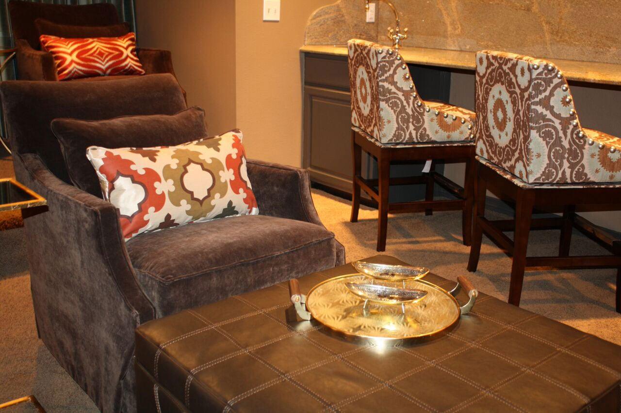 Atlanta custom chair ottoman design