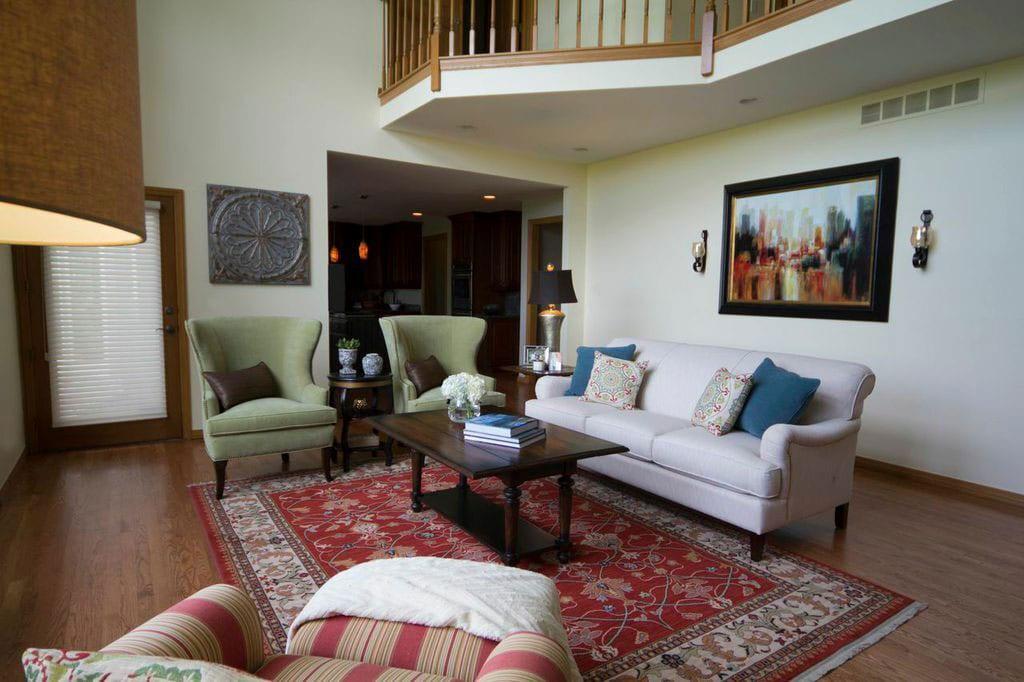 Living space interior design in Atlanta