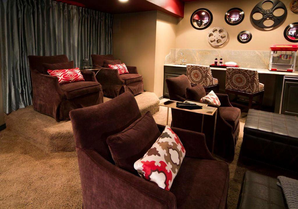 Atlanta media room interior