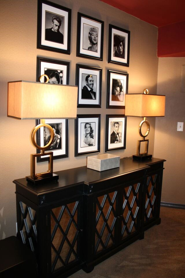 Atlanta room decor with portraits