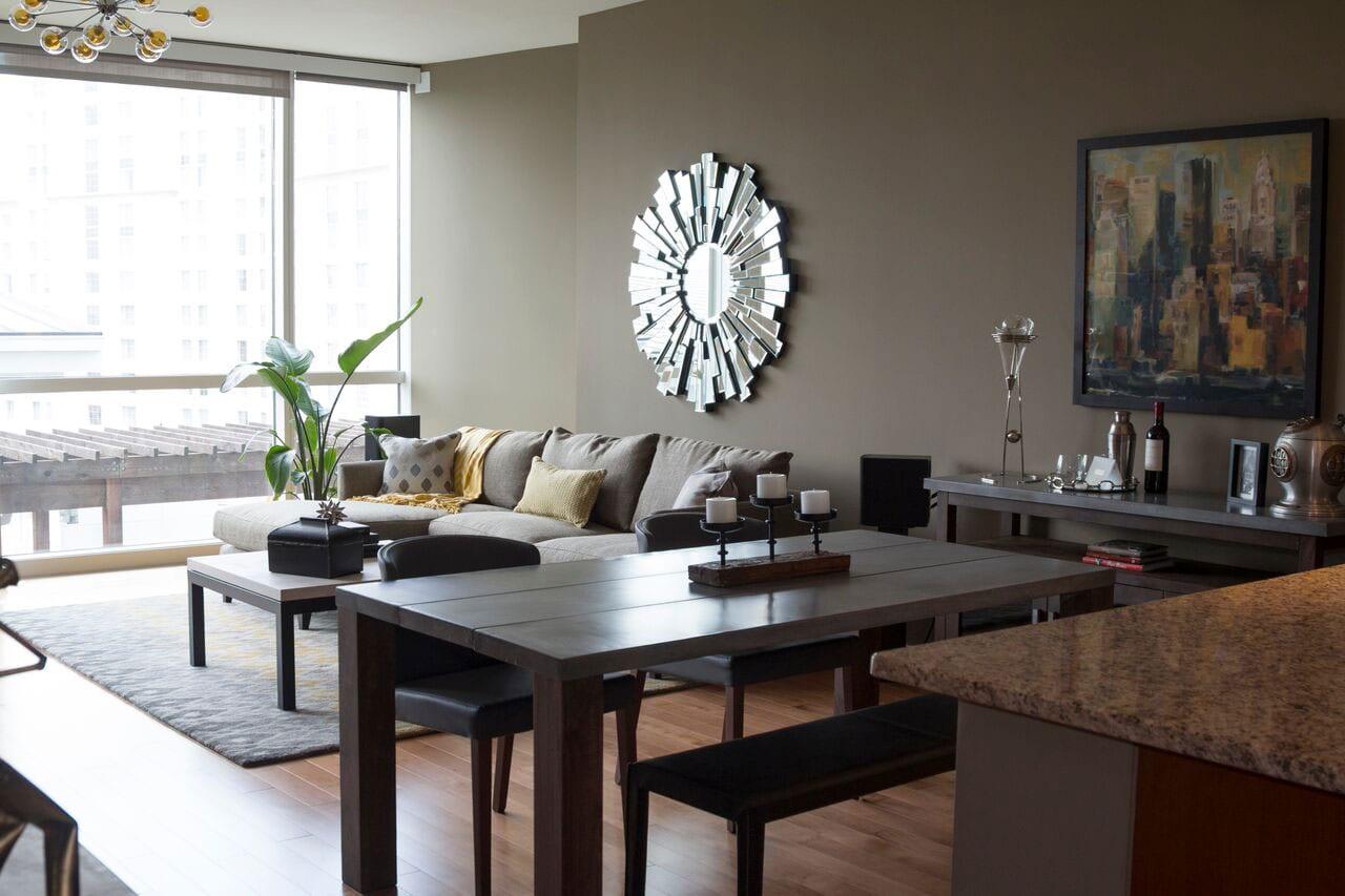 Terminus Place, Atlanta living room interiors