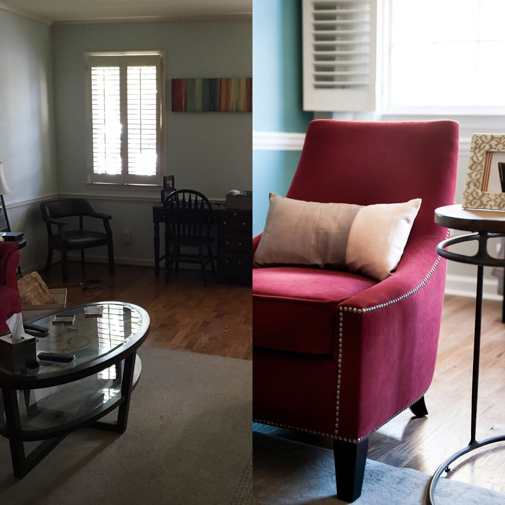 Custom chair design in Atlanta - before & after