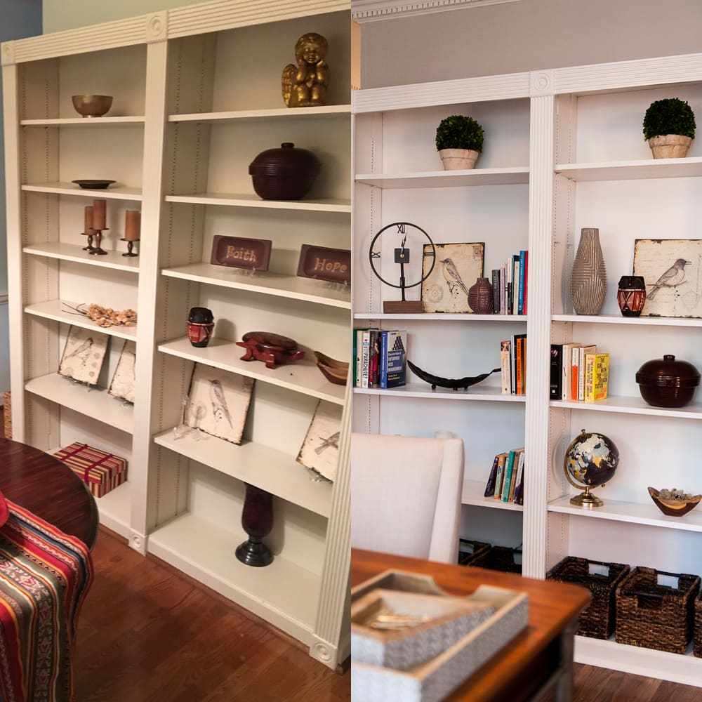 Home office interiors in Atlanta - before & after
