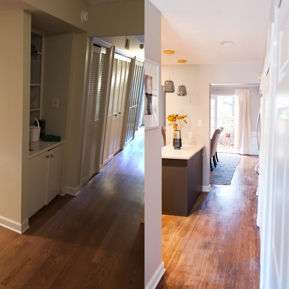 Kitchen hallway design in Atlanta - before & after
