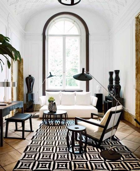 black-white-area-rug
