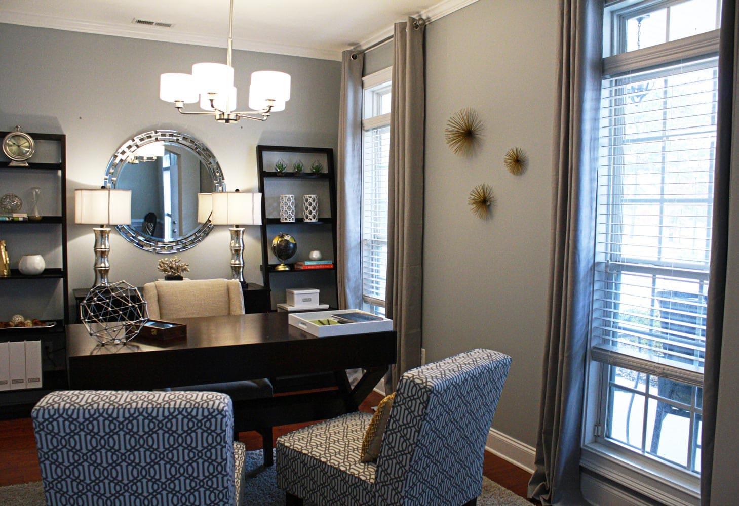 Piedmont Drive home office interior design in Atlanta