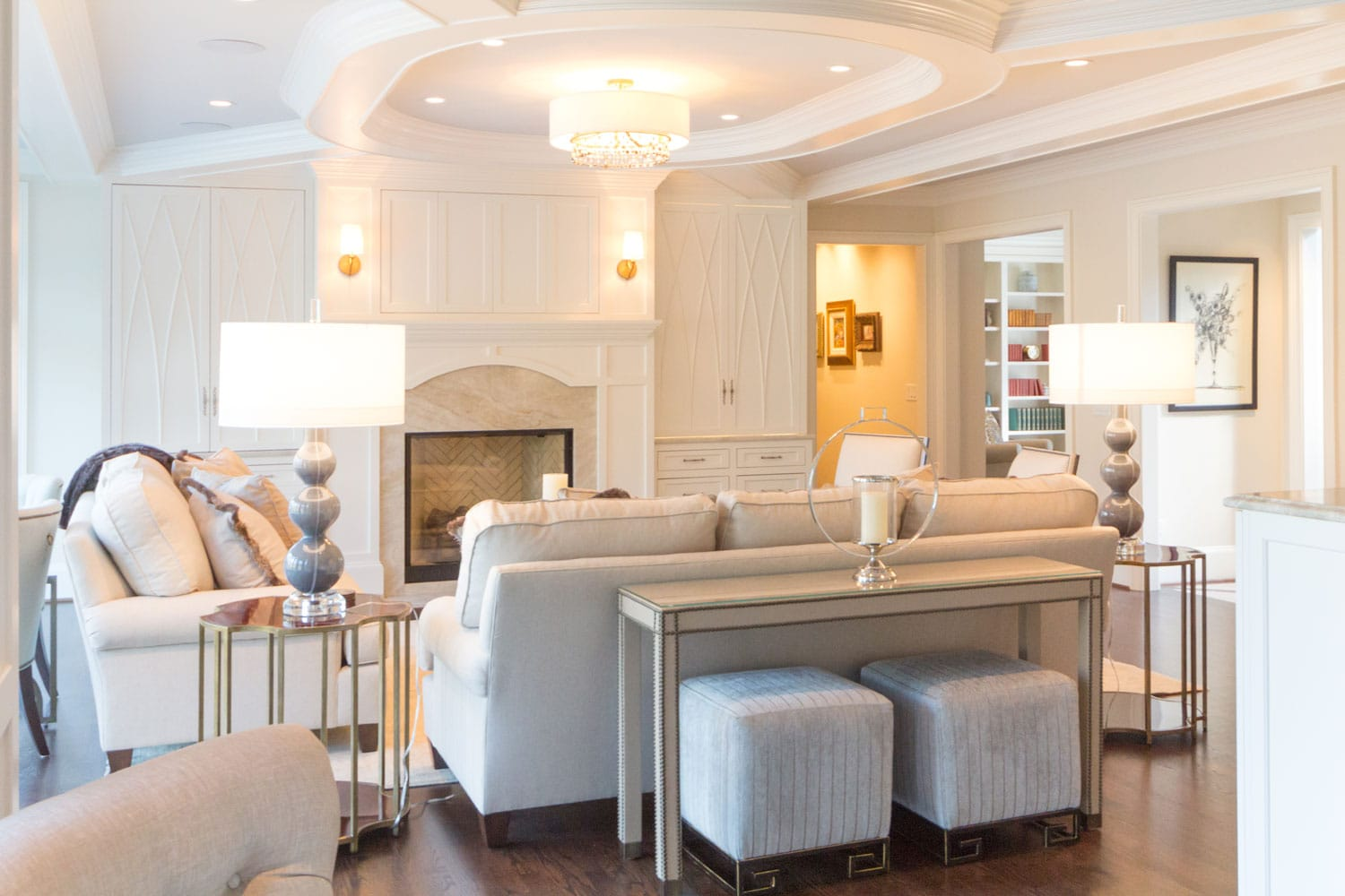 Living area interiors in Riverland Court, Atlanta