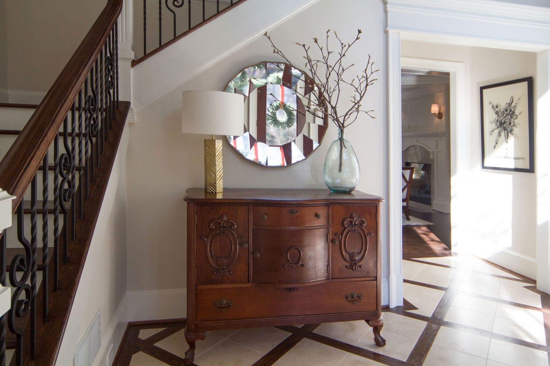 Riverland in Atlanta entryway furniture design