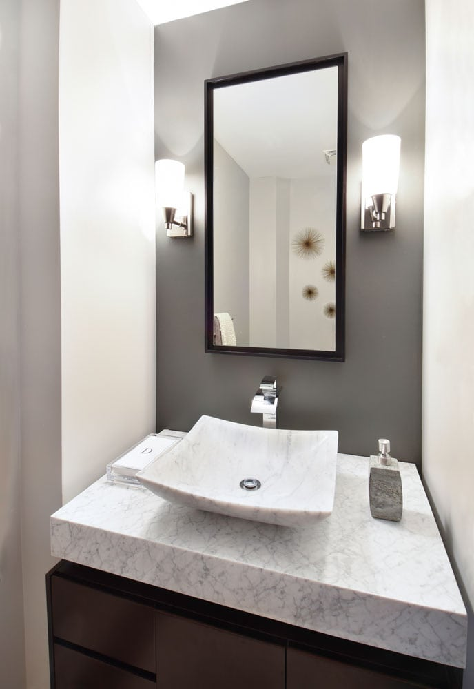 The Luxe bathroom sink design in Atlanta