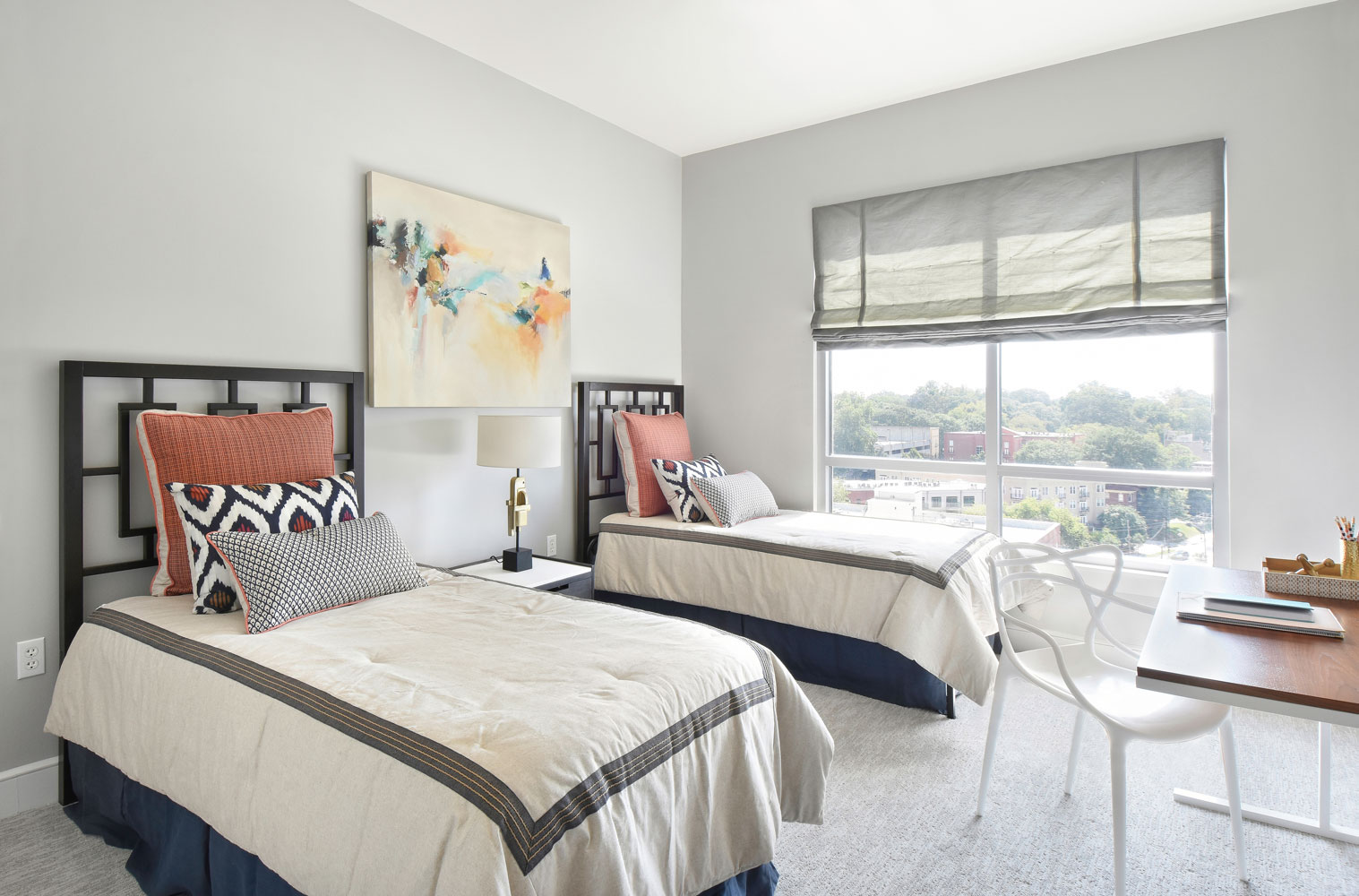 The Luxe guest bedroom interior design in Atlanta