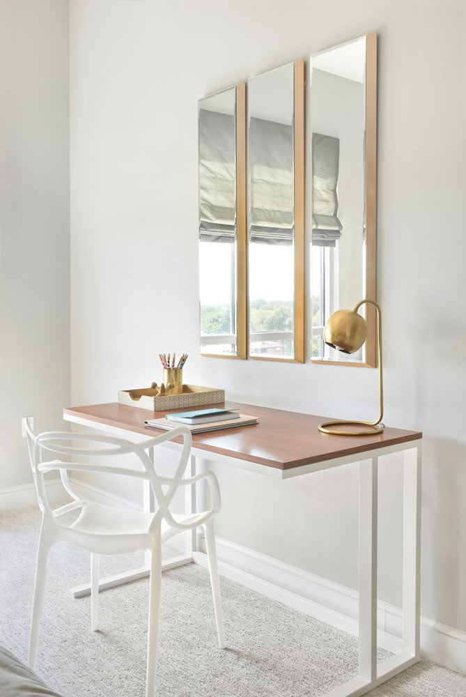 The Luxe guest room desk design in Atlanta