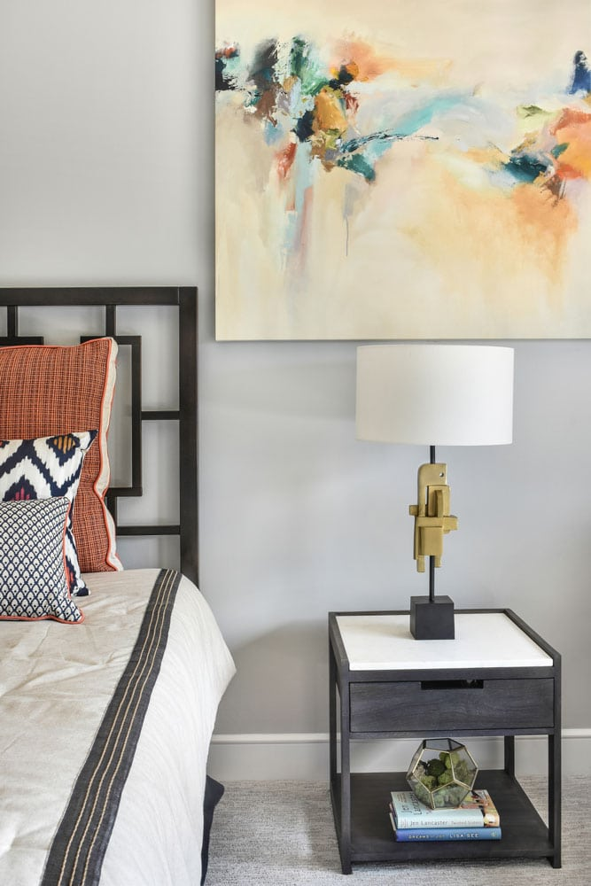 Guest room side table lamp design in Atlanta