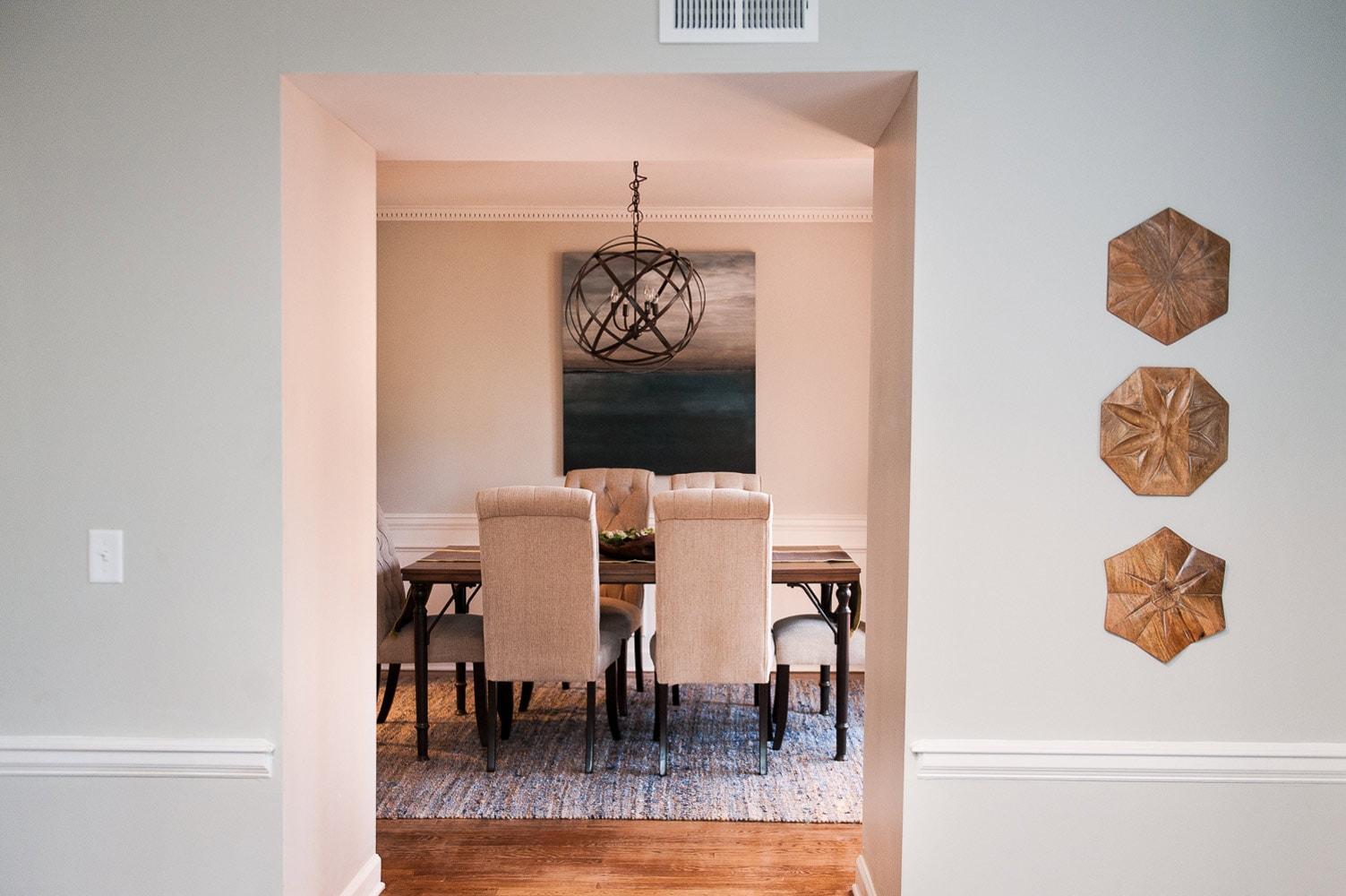 Wieuca Road dining room interior design in Atlanta