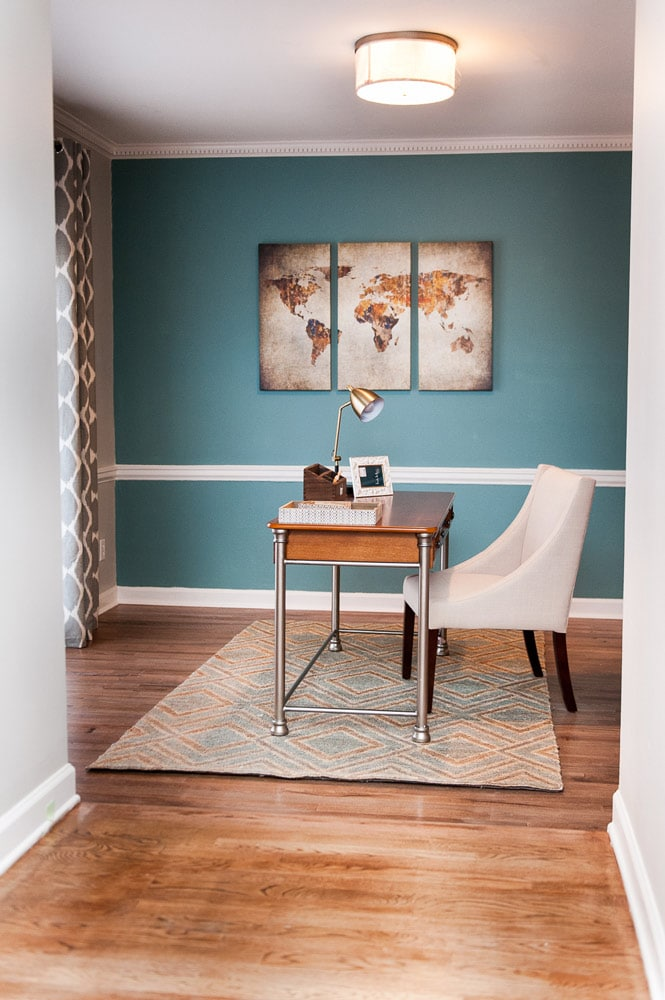 Wieuca Road home office interior decor in Atlanta