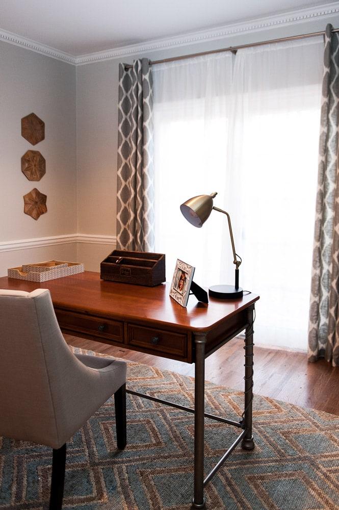 Wieuca Road home office interior design Atlanta