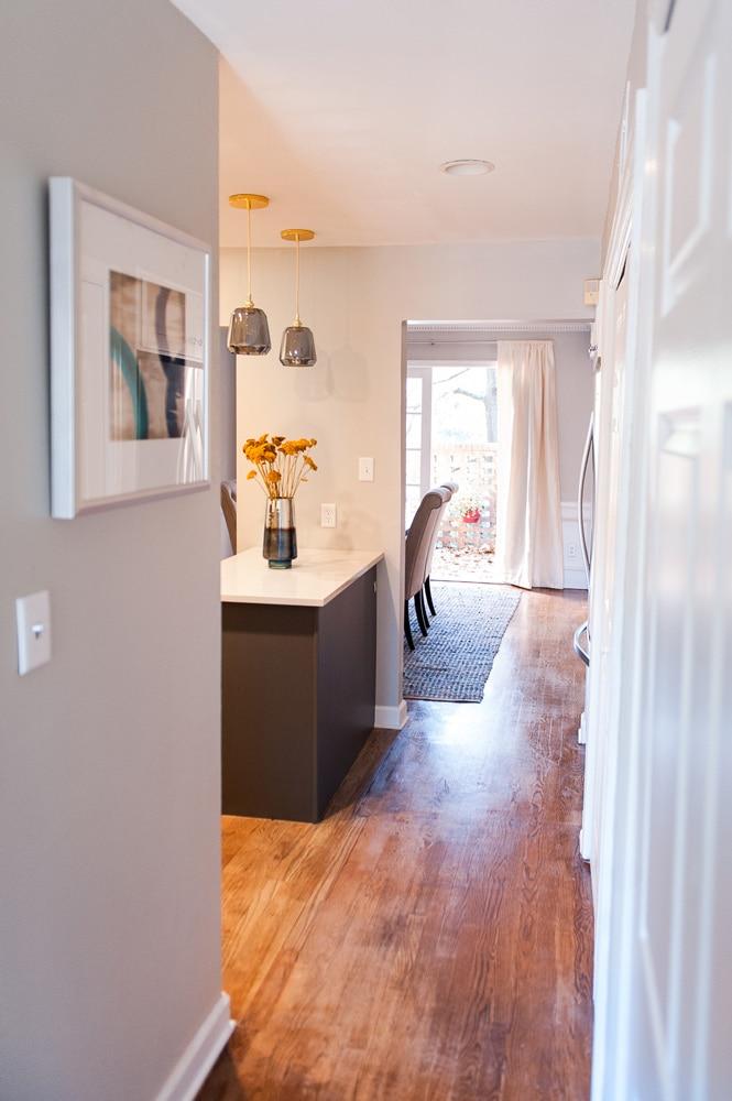 Wieuca Road kitchen hallway design Atlanta