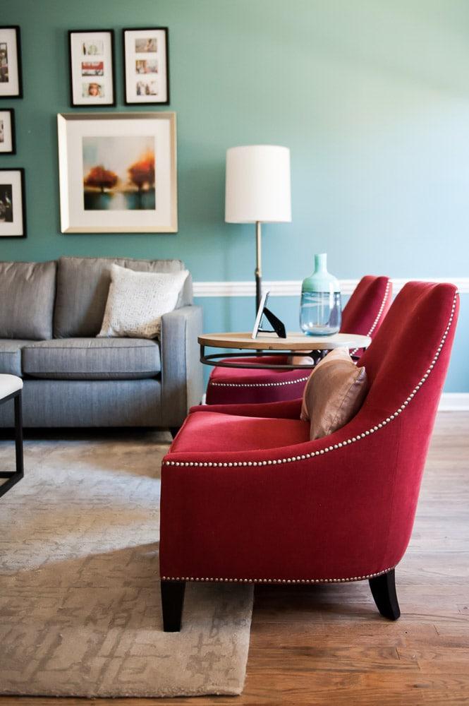 Wieuca Road living room custom furniture design Atlanta