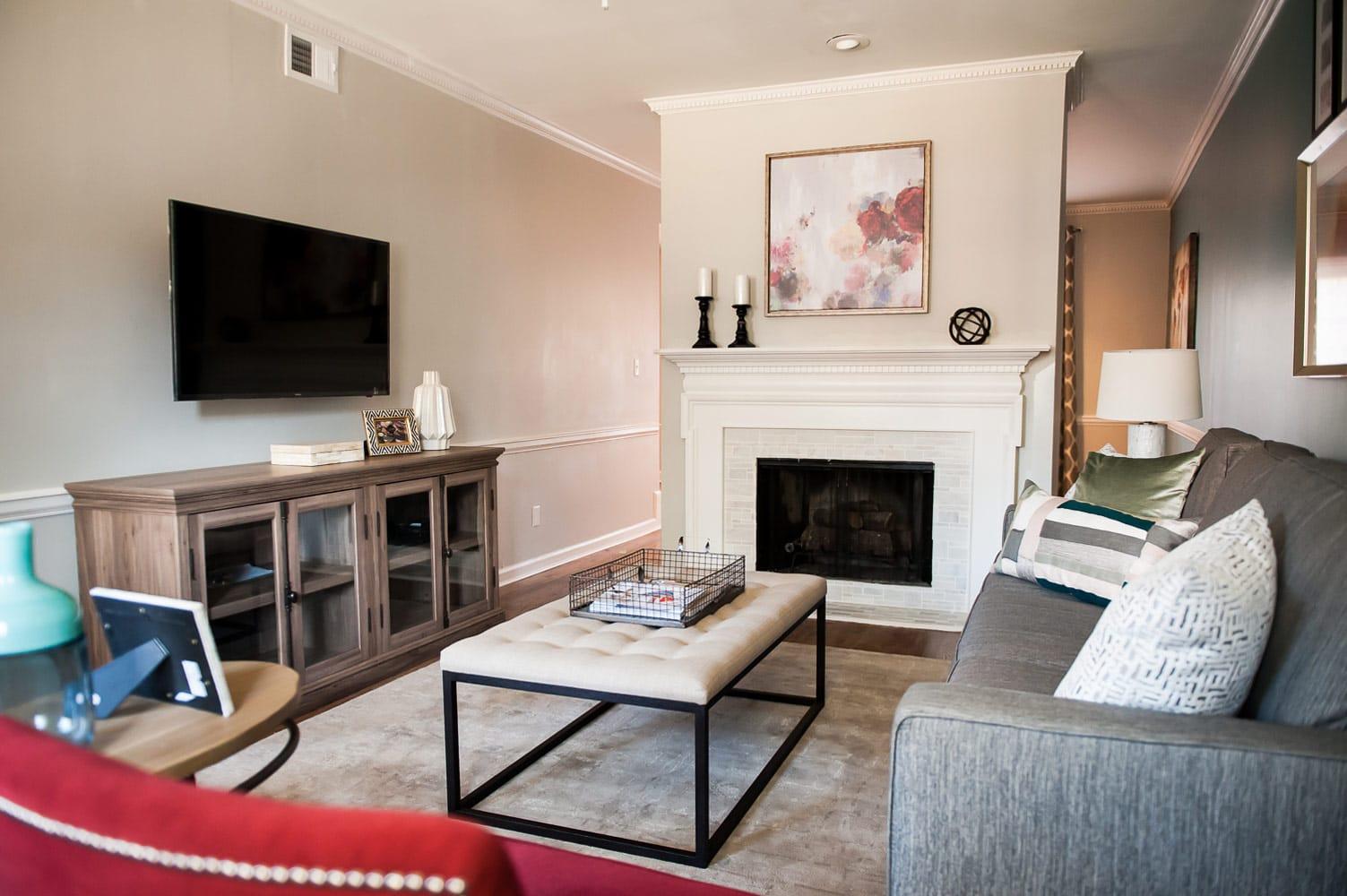 Wieuca Road Atlanta living room interior design