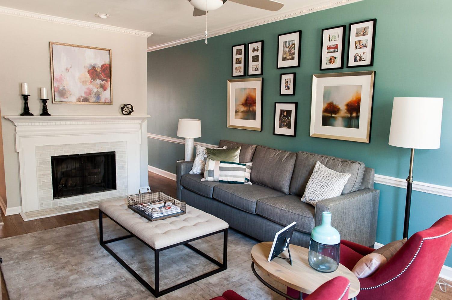 Wieuca Road living room interiors Atlanta