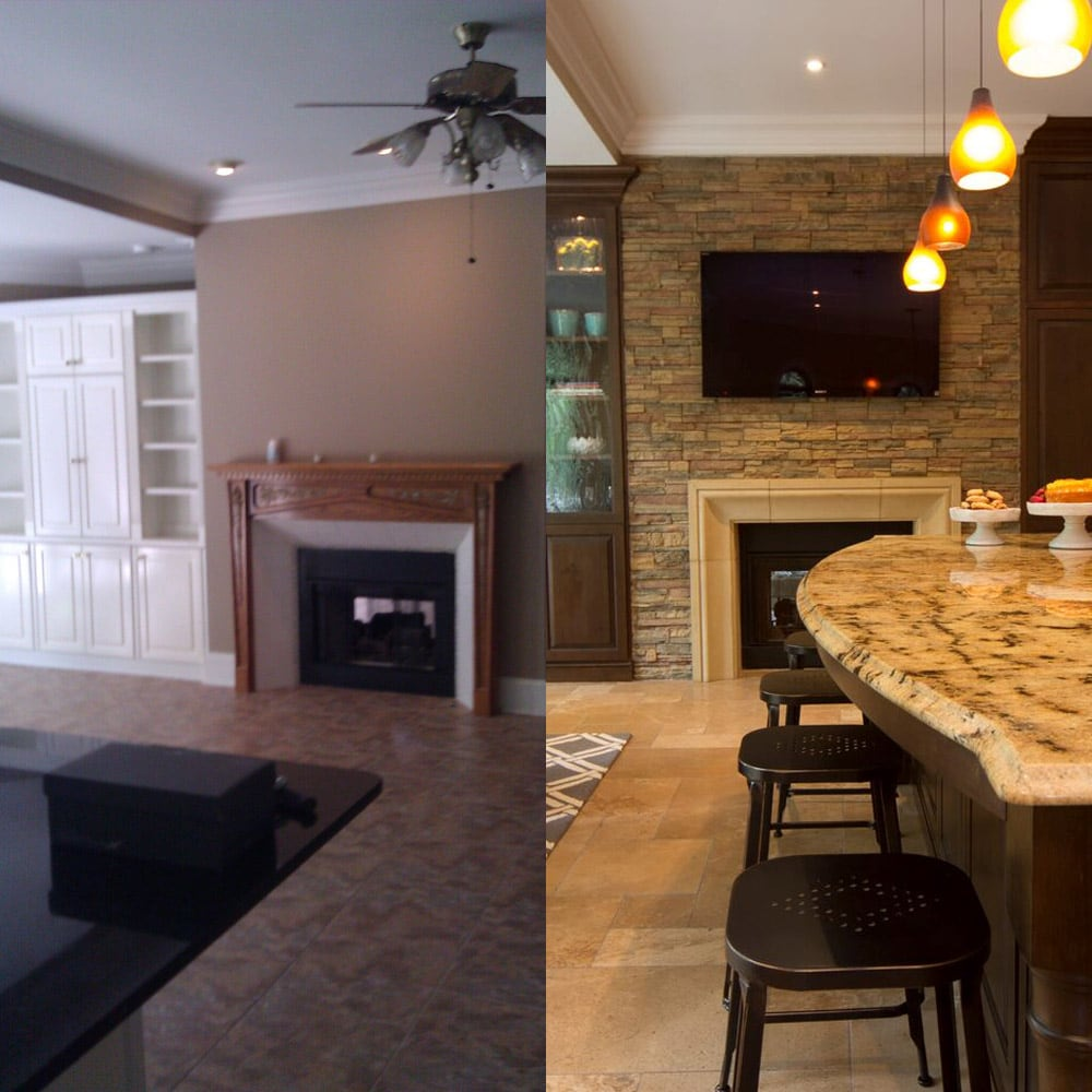 Atlanta kitchen dining design - before & after