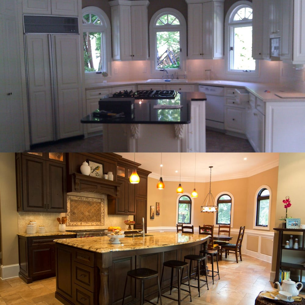 Atlanta's kitchen interior - before & after