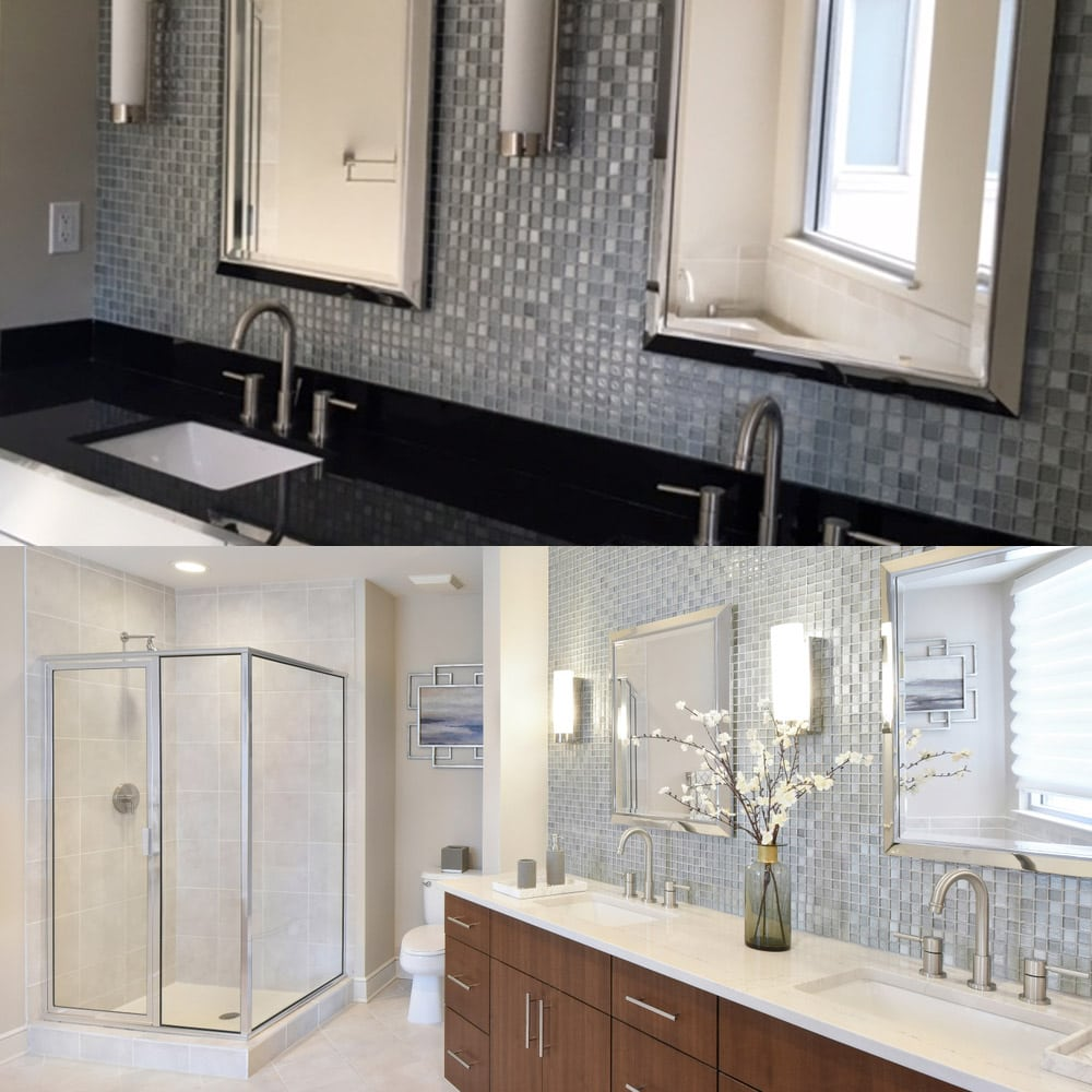 Atlanta's bathroom exterior design - before & after