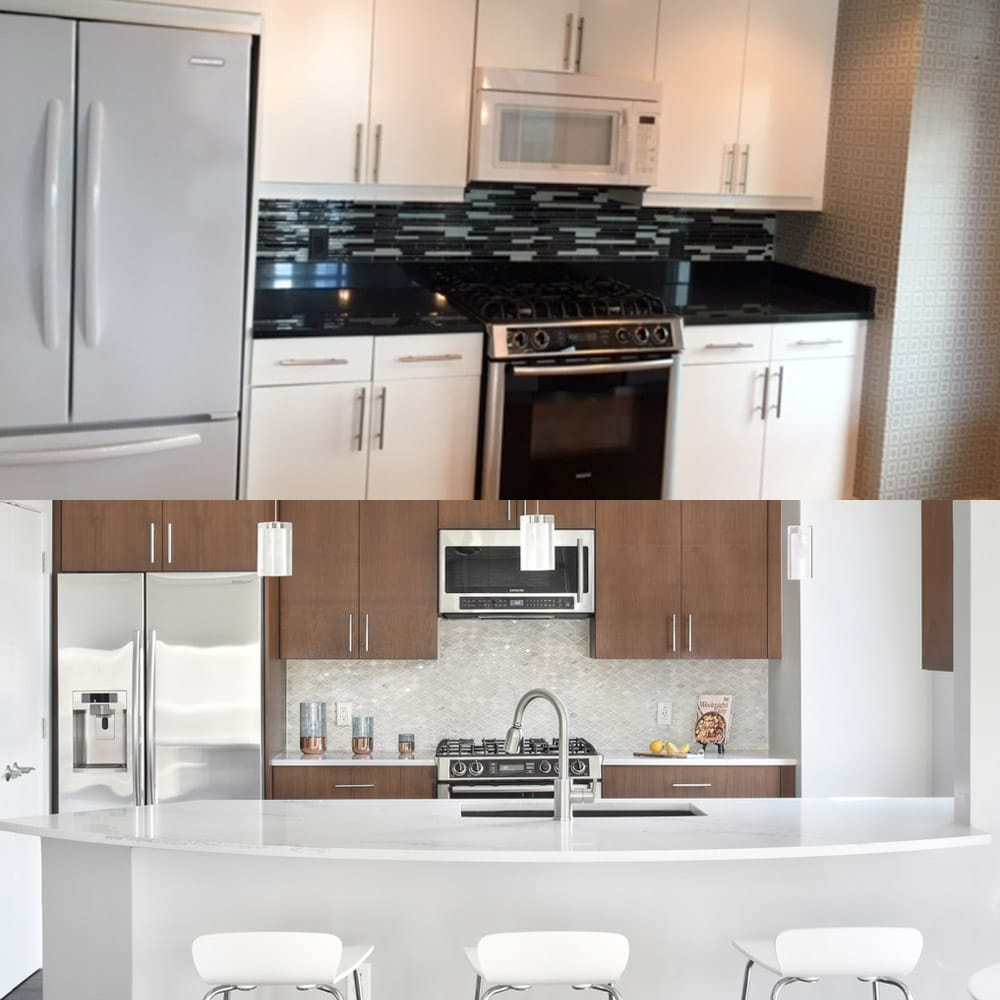 Atlanta's luxury kitchen interiors - before & after