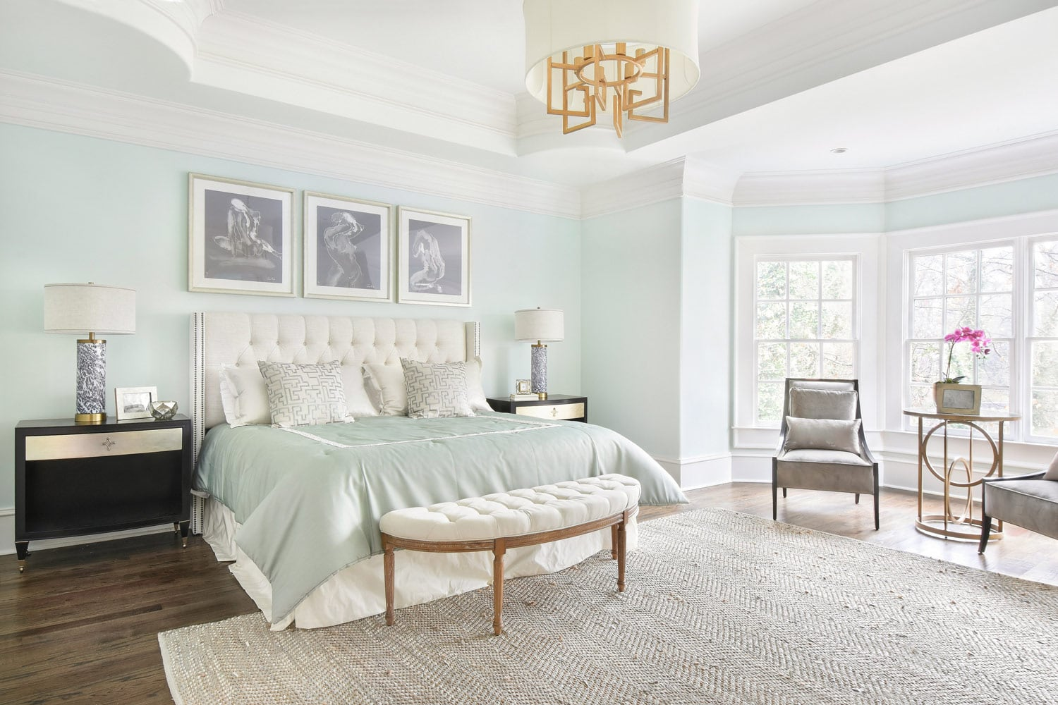 Peachtree Dunwoody master suite interior decor in Atlanta